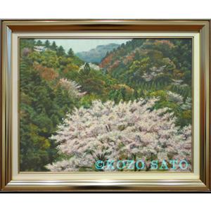 「山間の桜」P10号 2017年制作
