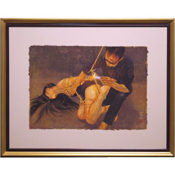 佐藤宏三「蝋燭」日本画