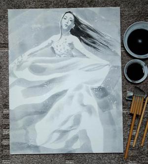 日本画 Belly dancer