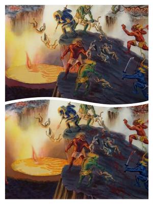 地獄極楽変相図 本画制作
