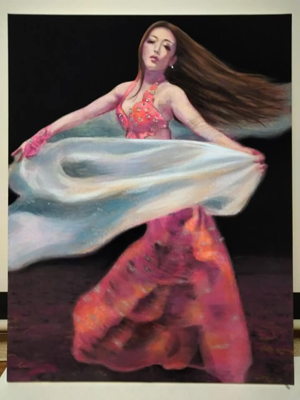 日本画 Belly dancer 彩色