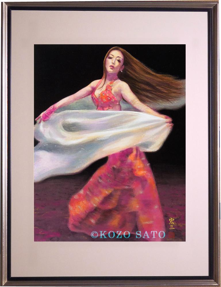 日本画 Belly dancer 2021年制作