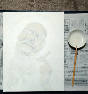 日本画家 佐藤宏三 「Get up, stand up.」