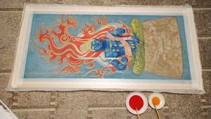 【Hidden Art】化仏 大日如来 不動明王 表彩色 裏彩色